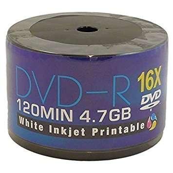 Aone DVD-R 16x Full Inkjet Printable (50 Pack)