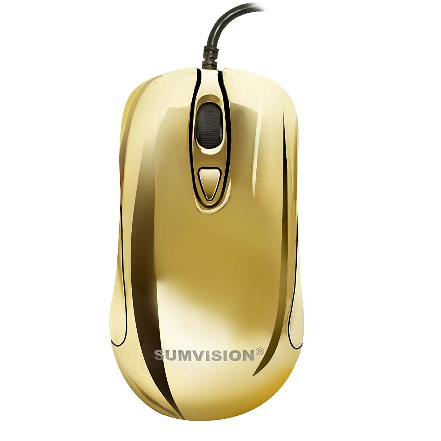 Sumvision Plasma Golden 6 LED Electroplated gaming mouse