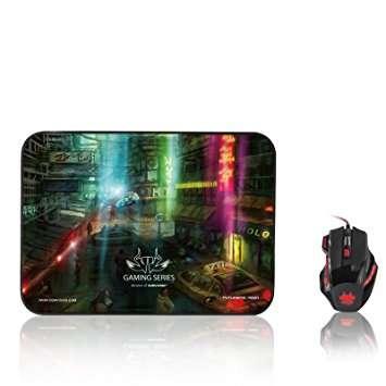 Nemesis – Futuristic Neon Waterproof Gaming Mouse Mat – Large