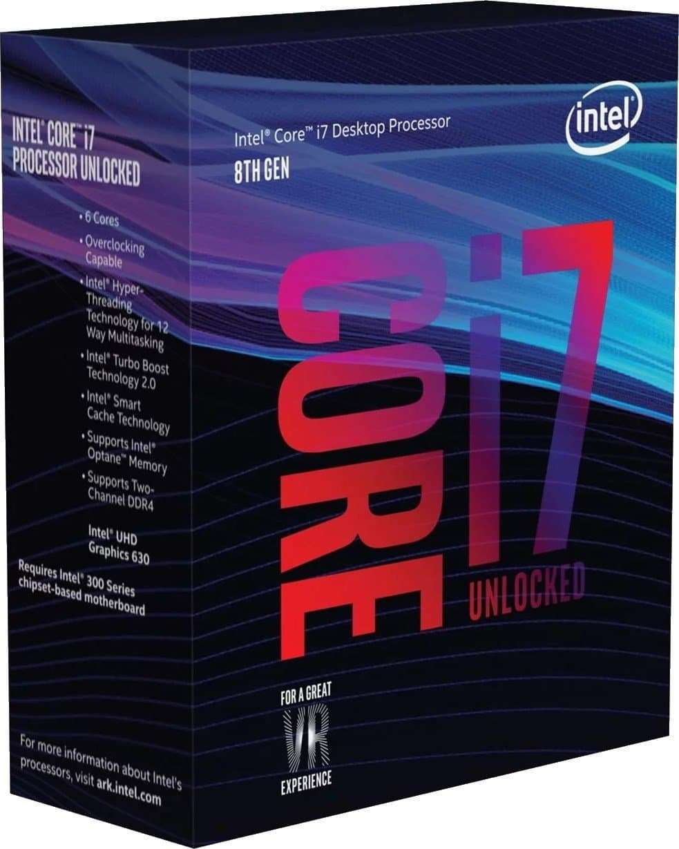 Intel – i7 8700K Coffee Lake 3.7GHz Six Core