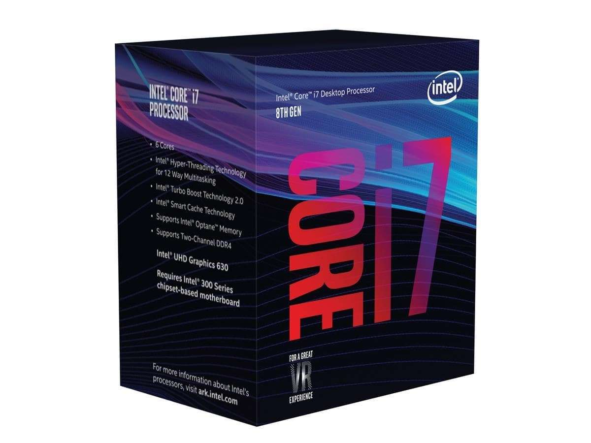 Core i7-8700 Six Core, 1151, 3.2GHz, Coffee Lake, 12MB Cache, 65 Watt