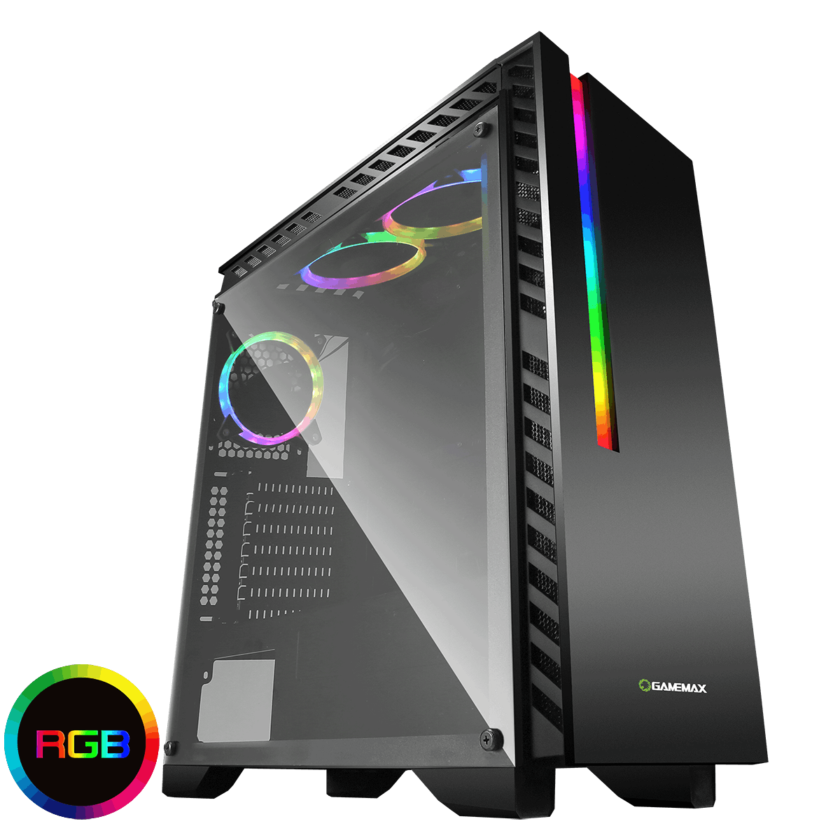 Game Max Chroma RGB Gaming Case With Tempered Glass Side Panel