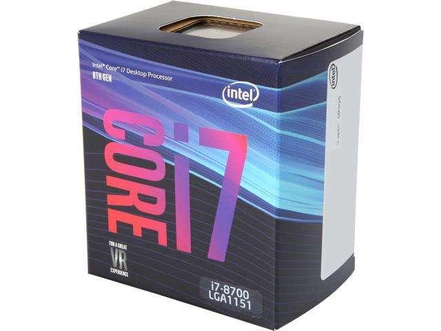 Core i7-8700 Six Core, 1151, 3.2GHz, Coffee Lake, 12MB Cache, 65 Watt