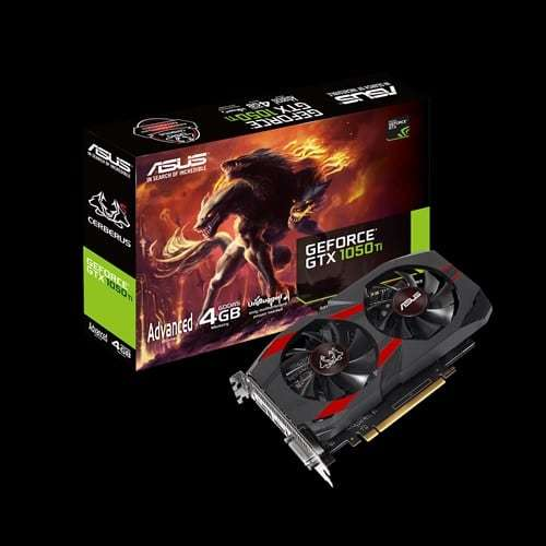 Asus GeForce GTX 1050ti 4GB GDDR5 Cerberus Advanced