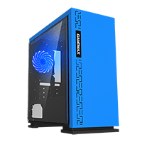 Game Max Expedition Blue Gaming Case, mATX, Rear LED Fan & Full Side Window