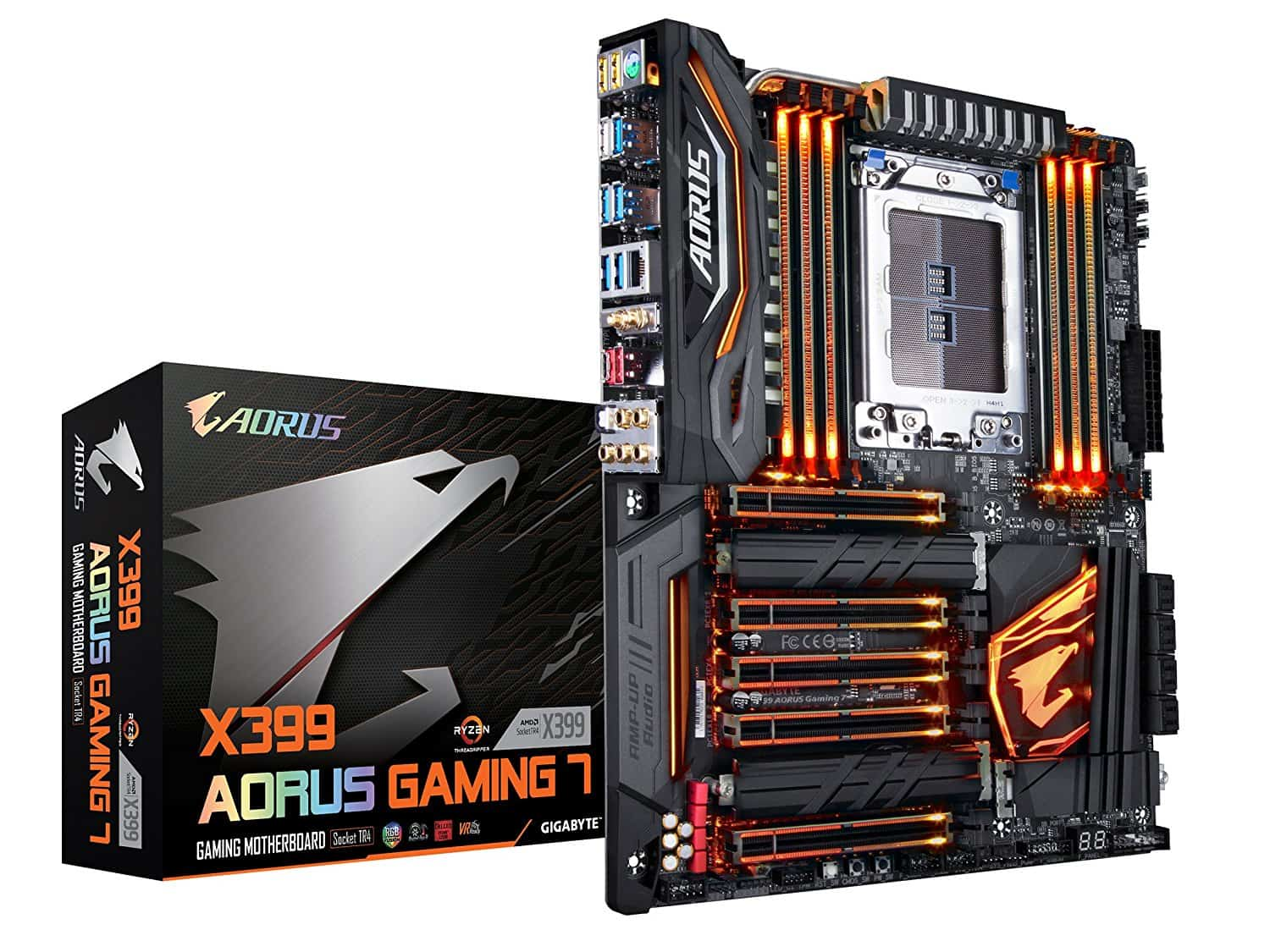 Gigabyte X399 Aorus Gaming 7 (Rev 1.0), RGB Fusion, Triple M.2, Front & Rear USB 3.1 Gen 2 Type-C