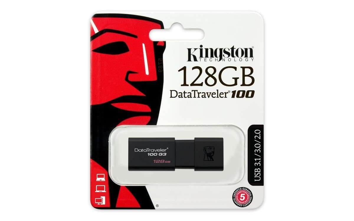 Kingston 128GB USB 3.0/2.0 DataTraveler 100