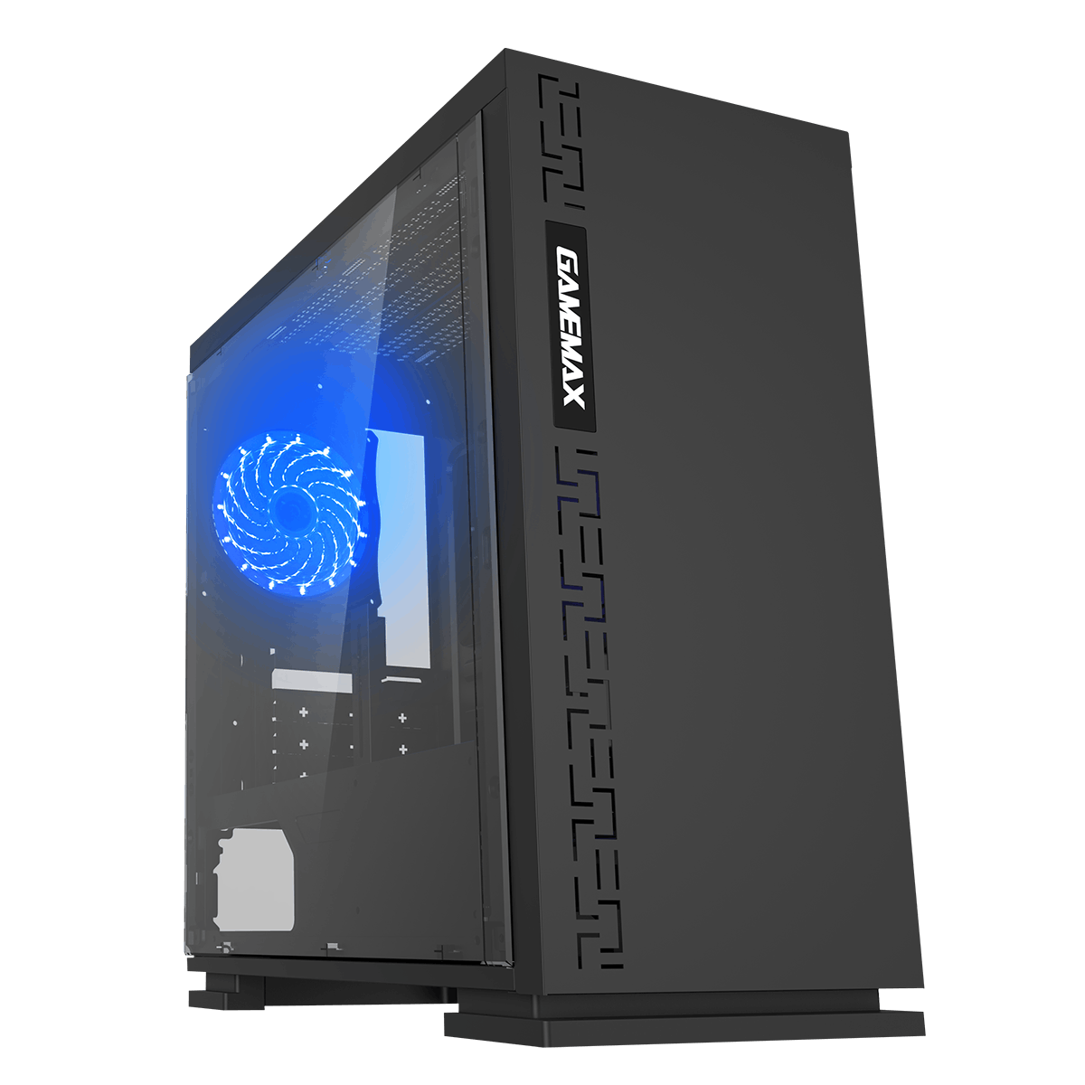 Game Max Expedition Black Gaming Matx PC Case Rear LED Fan & Full Side Window
