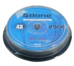 Aone – BD-R 4x Blu-Ray 25GB Printable (10 Pack)