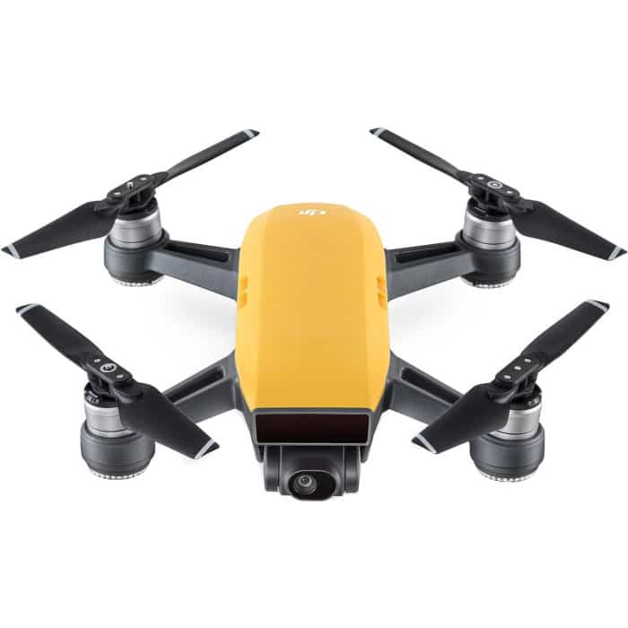 DJI Spark Pocket Sized Drone – Sunrise Yellow with Free Soft Shell Case