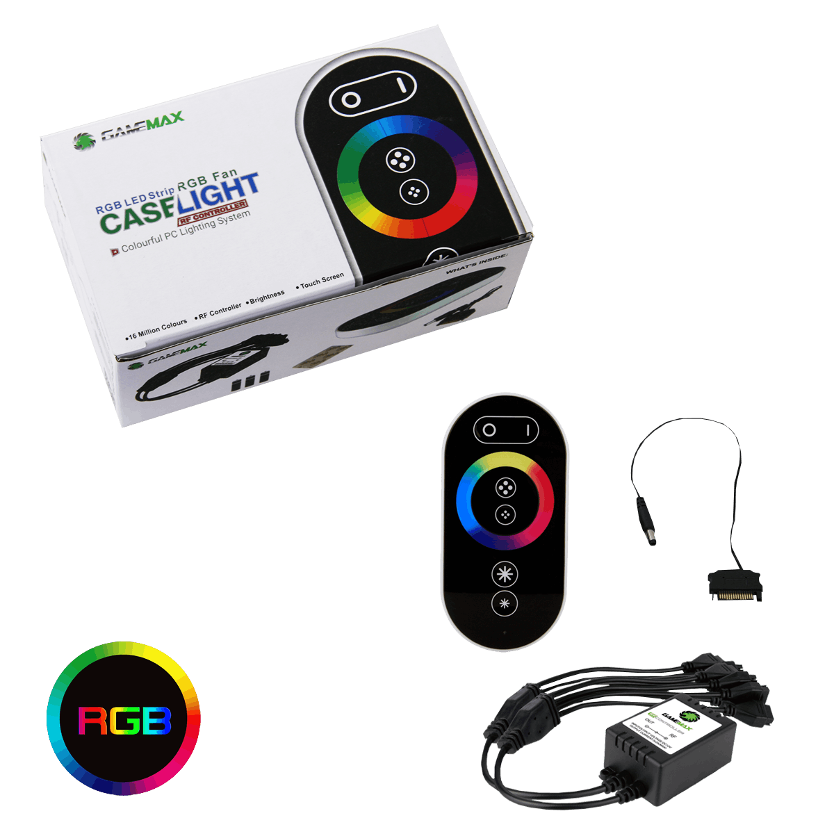 Game Max – RGB RF Remote Control & Receiver With Touch Control Sata Connector