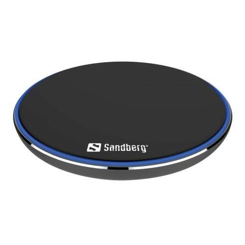 Sandberg – Wireless Charging Pad, 10W, Aluminium, Micro USB, Supports Fast Charge, 5 Year Warranty