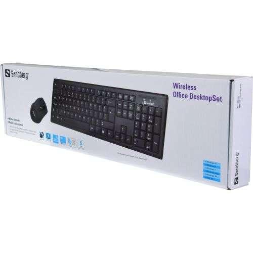 Sandberg – Wireless Office Desk Kit, Nano, 1600DPI Mouse, Black