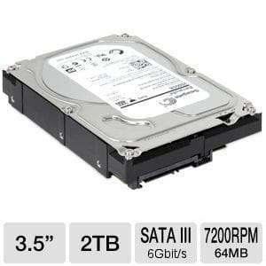 Seagate – 2TB SATA III 7200RPM 64 MB Cache