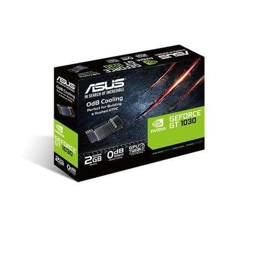 Asus GeForce GT1030, 2GB DDR5, PCIe3, DVI, HDMI, 1506 MHz, Silent, Low Profile (Bracket Included