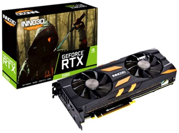 Inno3D GeForce RTX 2080 Twin X2 OC 8192MB GDDR6 PCI-Express Graphics Card