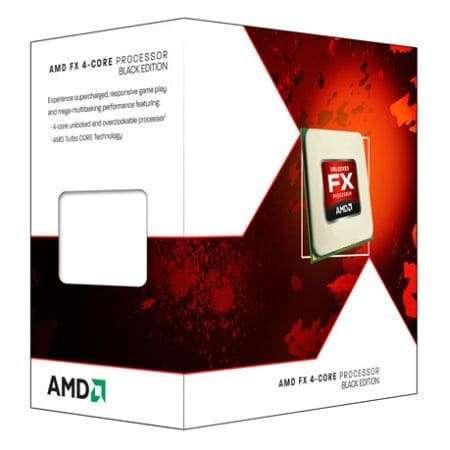 AMD FX-4300 CPU, AM3+, 3.8GHz, Quad Core, 95W, 8MB Cache, 32nm, Black Edition, No Graphics