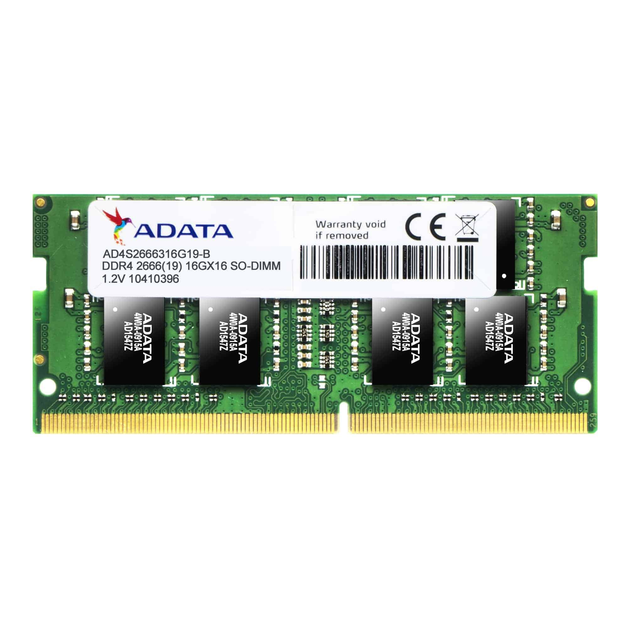 ADATA 8GB 2666Mhz PC4-21300 DDR4 CL19 SO-DIMM