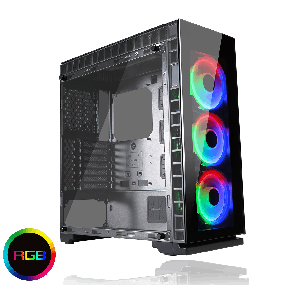 Gamemax Spectrum Tempered Glass RGB Gaming Case