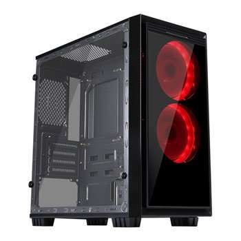CiT Halo Mini RGB Gaming Case With 2x Single-RGB LED Fans