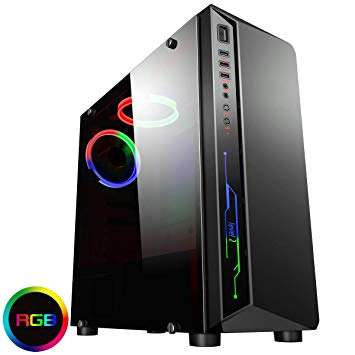 CiT Blitz RGB Gaming Case With Full Acrylic Window