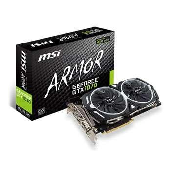 MSI GeForce GTX 1070 ARMOUR 8G OC Graphics Card