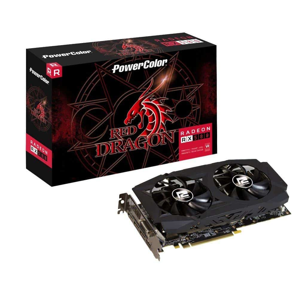 PowerColor Radeon RX 580 Red Dragon V2 MB GDDR5 PCI-Express Graphics Card