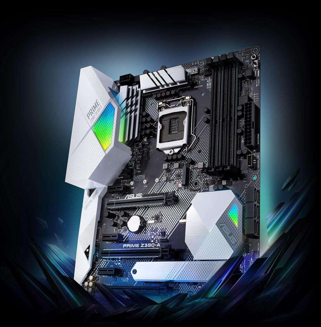 ASUS – PRIME Z390-A, Intel Z390, 1151, ATX, 4 DDR4, SLI/XFire, HDMI, DP, RGB Lighting