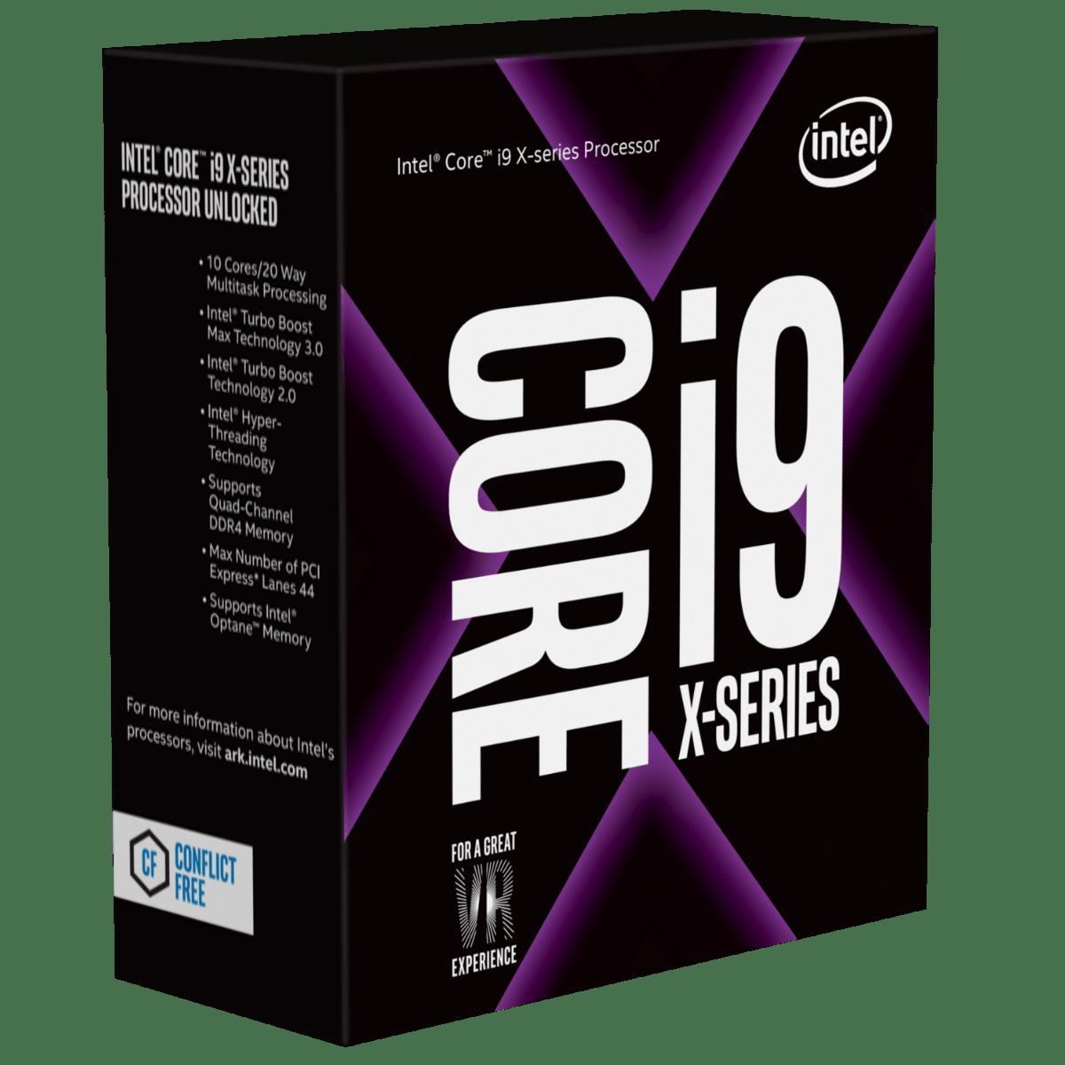 Intel – Intel Core I9-7900X CPU, 2066, 3.30GHz (4.3 Turbo), 10-Core, 140W, 13.75MB Cache, Overclockable