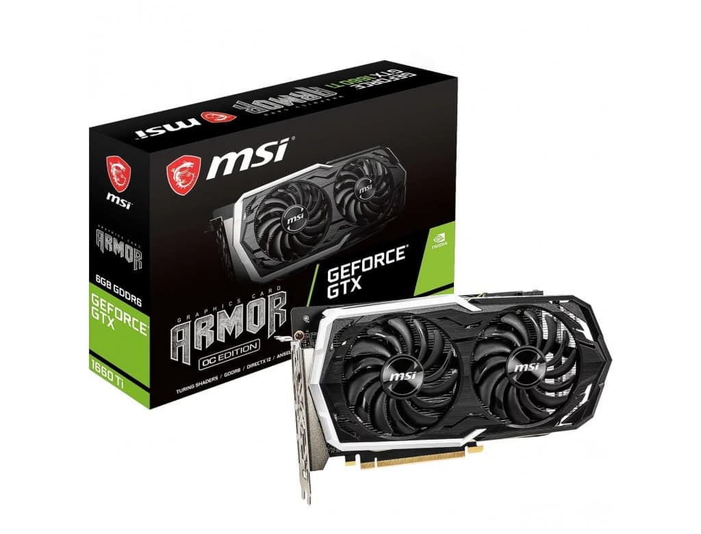 MSI – GeForce GTX 1660 6GB Armour OC