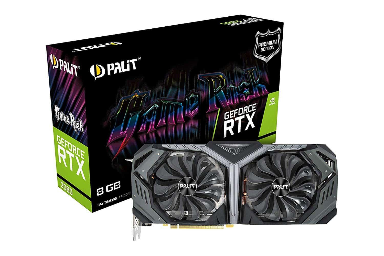 Palit – RTX2080 GameRock, 8GB DDR6, HDMI, 3 DP, USB-C, 1815MHz Clock, RGB Lighting