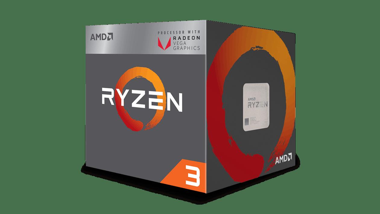 AMD – Ryzen 3 2200G 4-Core CPU, AM4, 3.5GHz, 6MB Cache,65W, Wraith Fan, RX Vega GFX