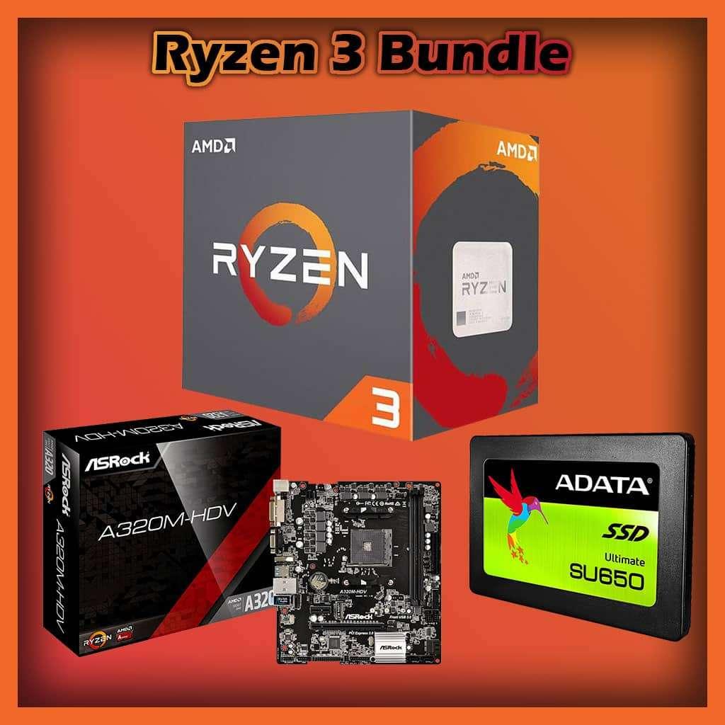 Ryzen 3 Bundle, 3100, 8GB RAM, Asrock A320M, 120GB SSD