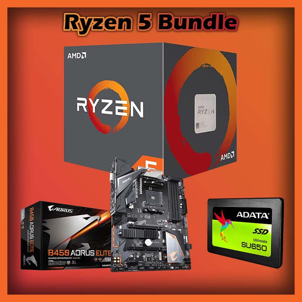 Ryzen 5 Bundle, 1600x, 8GB RAM, Gigabyte B450, 120GB SSD, GameMax Gamma