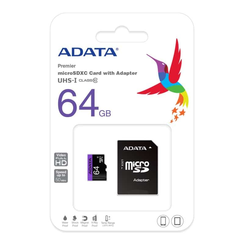 ADATA – 64GB High Capacity Class 10 Micro SD Card