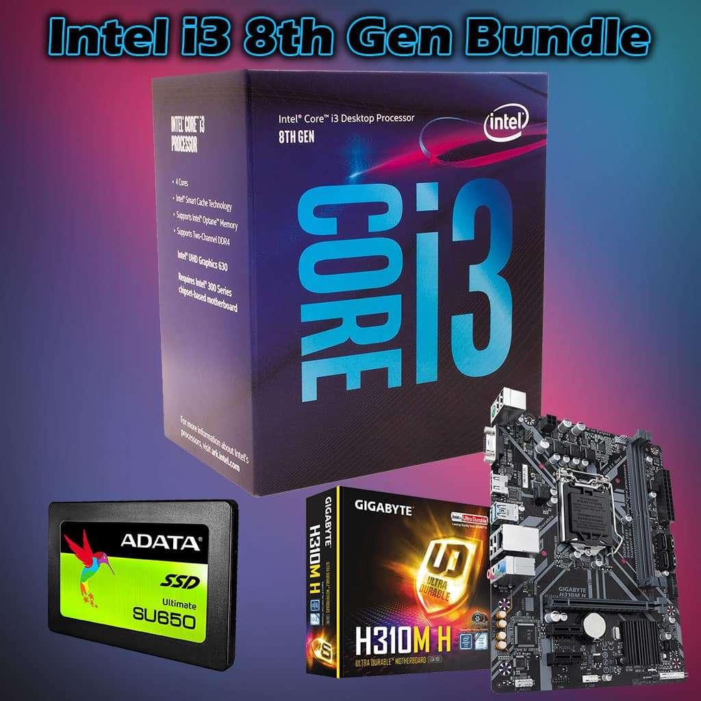 Intel i3 8th Gen Bundle, 8100, 8GB RAM, Gigabyte H310, 120GB SSD