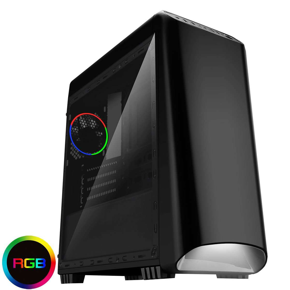 CiT Legend Black RGB Gaming Case With Full Acrylic Side Window