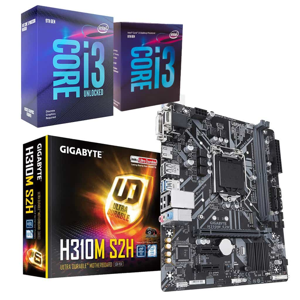 Gigabyte H310M S2H Motherboard and Intel Core i3 Bundle *5% off Processor*