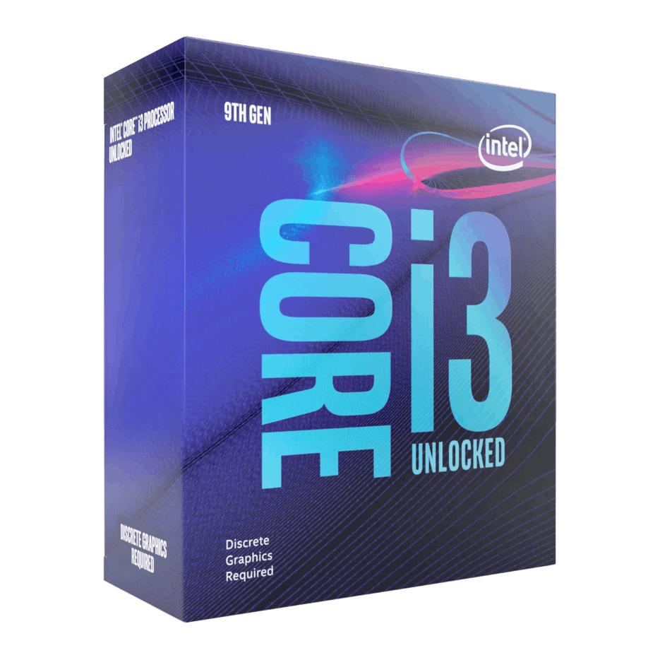 Intel Core I3-9100F CPU, 1151, 3.6 GHz (4.2 Turbo), Quad Core, 65W, 14nm, 6MB Cache, Coffee Lake Refresh