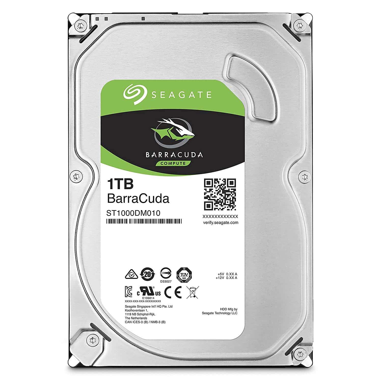Seagate BarraCuda 3.5″ Hard Drive 1TB