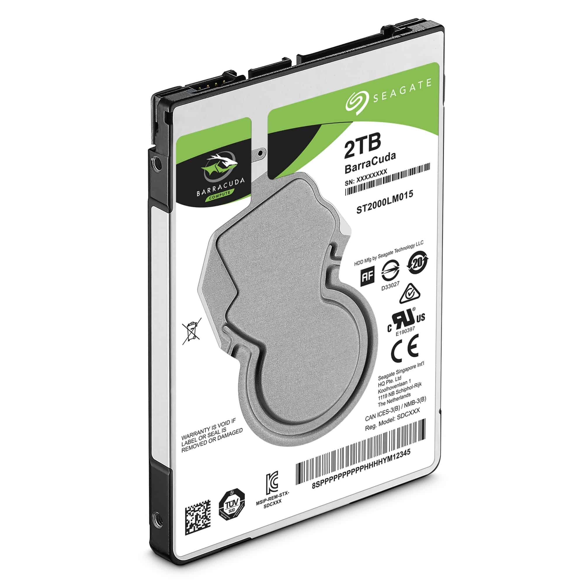 Seagate BarraCuda 2.5″ Hard Drive 500GB/1TB/2TB
