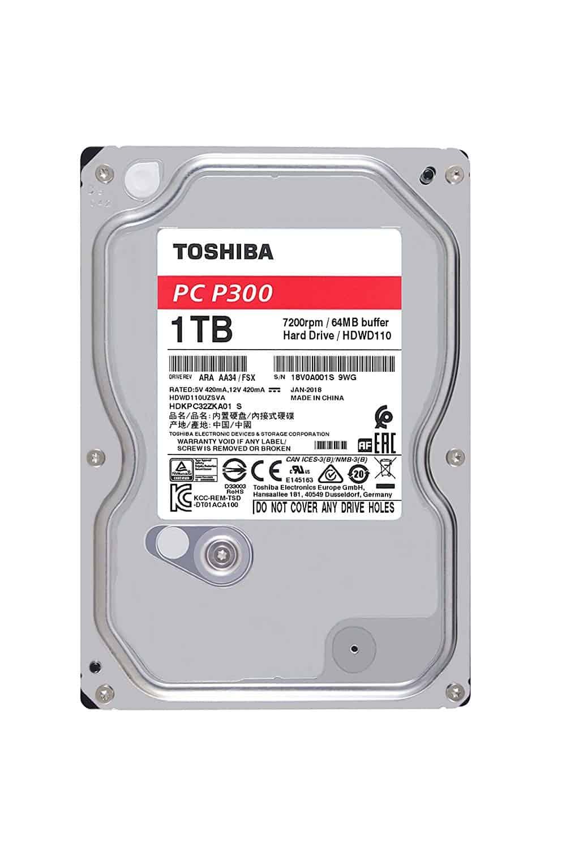 Toshiba 3.5″ SATA3, P300, 7200RPM, 64MB Cache Hard Drive 1TB