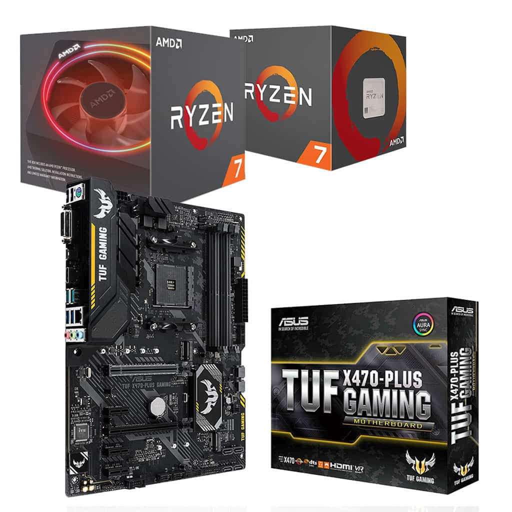 Asus TUF X470-Plus Motherboard and Ryzen 7 Processor Bundle *10% off Processor*