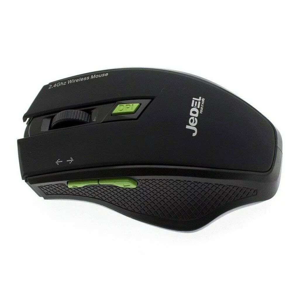 Jedel – Wireless optical mouse, 2.4GHz, 5 buttton, 1600 dpi, Black