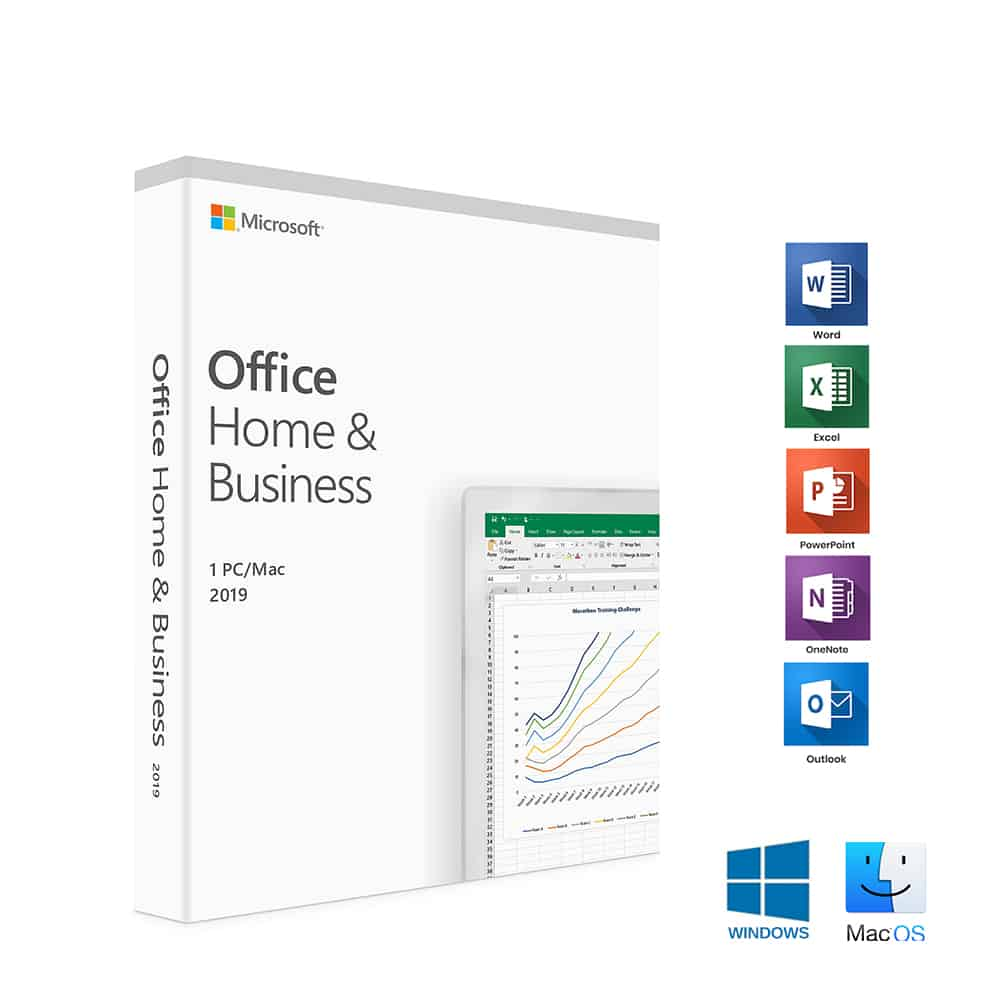 Microsoft – Office 2019 Home & Business, PKC (OEM), 1 Licence, Medialess