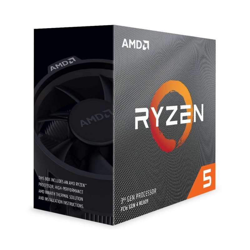 AMD Ryzen 5 3600 CPU with Wraith Stealth Cooler, AM4, 3.6GHz (4.2 Turbo), 6-Core, 65W, 35MB Cache, 7nm, 3rd Gen, No Graphics, Matisse
