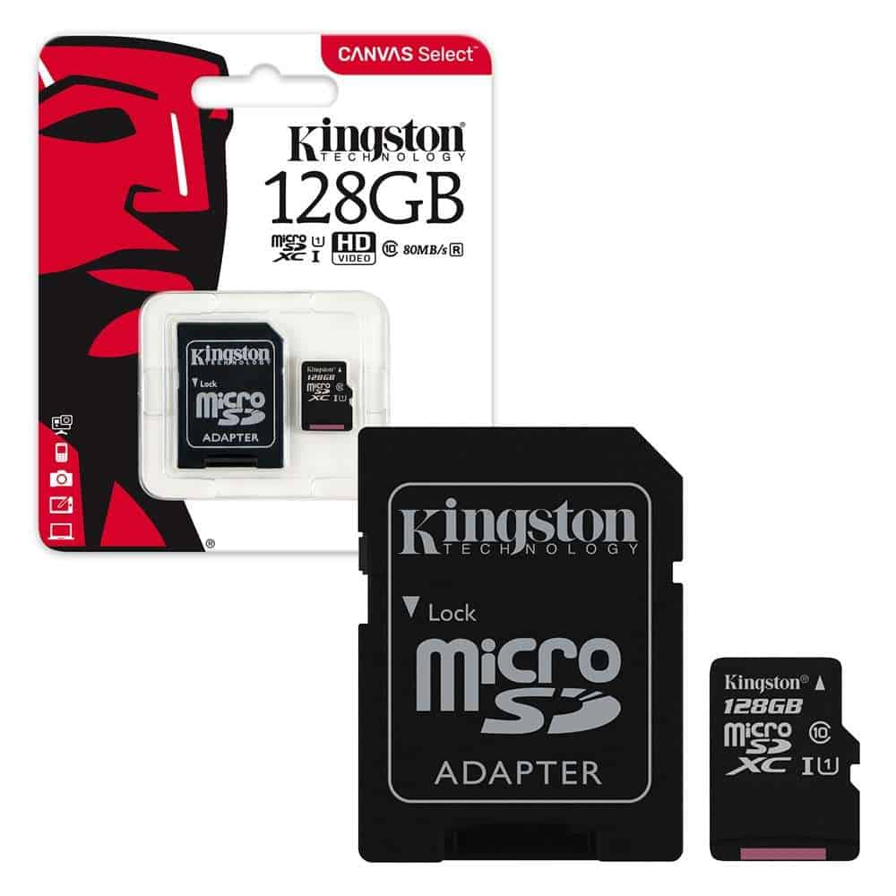 Kingston High Capacity Class 10 Micro SD with SD Adapter 16GB/32GB/64GB/128GB