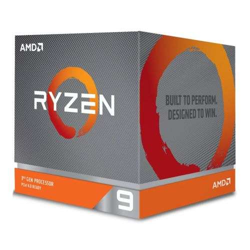 AMD Ryzen 9 3900X CPU with Wraith Prism RGB Cooler, 12-Core, AM4, 3.8GHz (4.6 Boost), 105W, 7nm, 3rd Gen, No Graphics