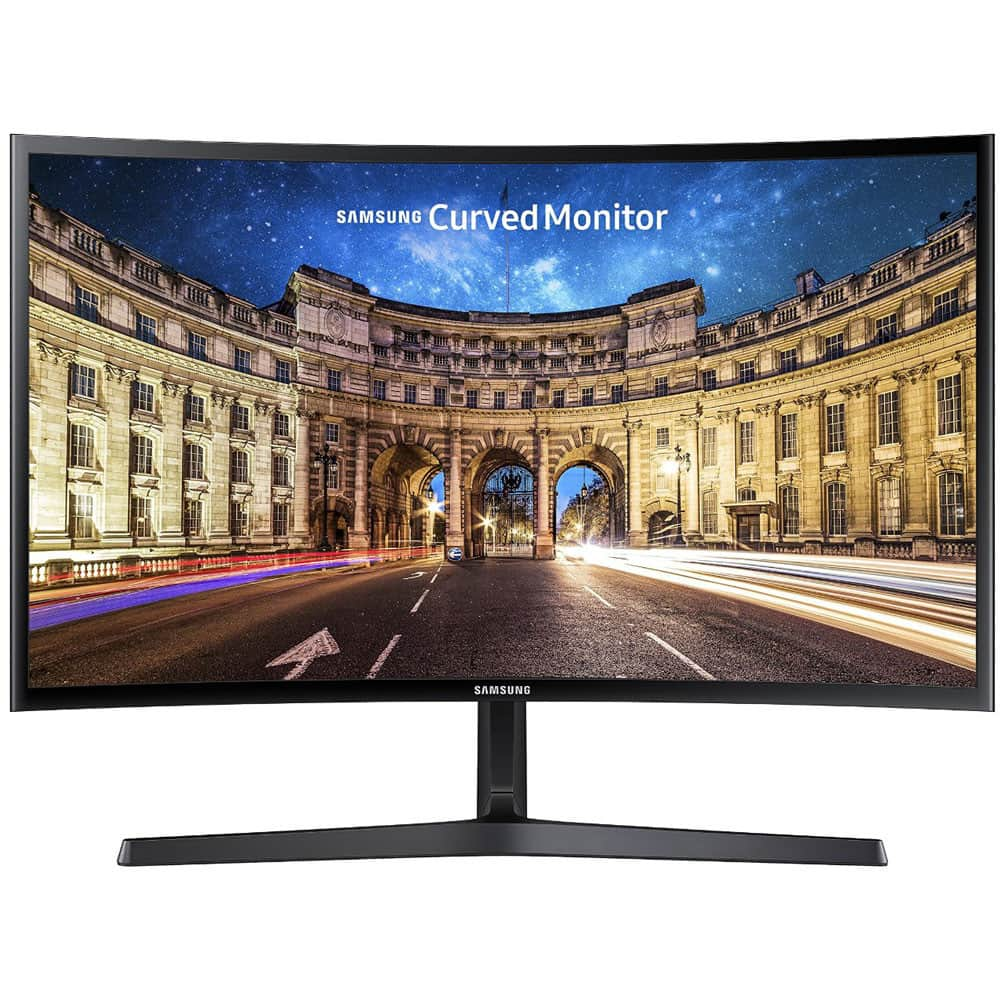 A Grade – Samsung 24 Curved Widescreen Full HD 1080p LED LCD Monitor 3000:1 Contrast Ratio HDMI