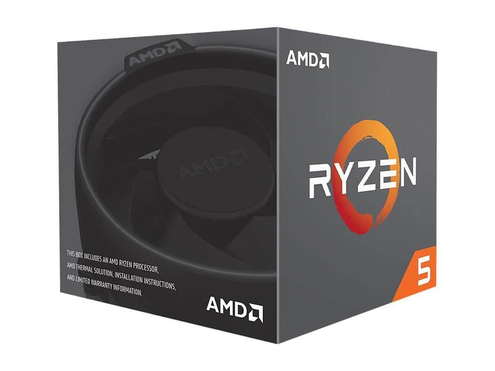 Ryzen 2600x 6-Core CPU, AM4, 3.6GHz (4.25GHz Turbo), 19MB Cache, Wraith Stealth cooler